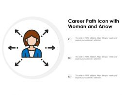 Career Path Icon With Woman And Arrow