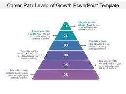 Career Path Levels Of Growth Powerpoint Template