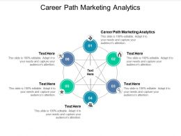 Career Path Marketing Analytics Ppt Powerpoint Presentation Infographics Mockup Cpb