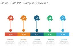 Career Path Ppt Samples Download