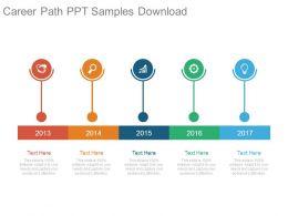 Career Path Ppt Samples Download
