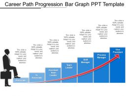 Career Path Progression Bar Graph Ppt Template
