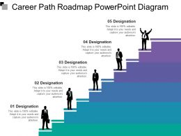 Career Path Roadmap Powerpoint Diagram 1