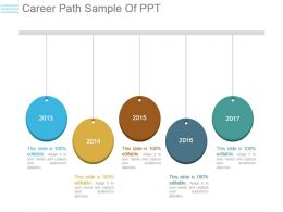 Career Path Sample Of Ppt