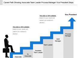 Career Path Showing Associate Team Leader Process Manager Vice President Steps