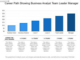 Career Path Showing Business Analyst Team Leader Manager