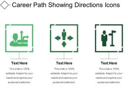 Career Path Showing Directions Icons