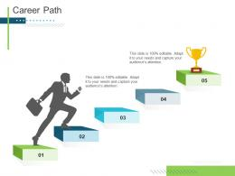 Career Path Slide Presenting Oneself For A Meeting Ppt Elements