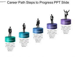 Career Path Steps To Progress Ppt Slide