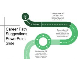Career Path Suggestions Powerpoint Slide