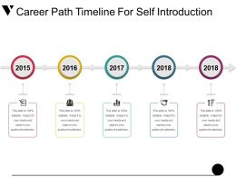 Career Path Timeline For Self Introduction Powerpoint Guide