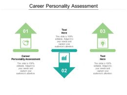 Career Personality Assessment Ppt Powerpoint Presentation Styles Aids Cpb