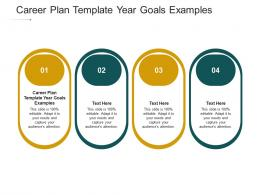 Career Plan Template Year Goals Examples Ppt Powerpoint Presentation Ideas Sample Cpb