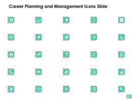 Career Planning And Management Icons Slide Target Ppt Presentation Infographics Vector