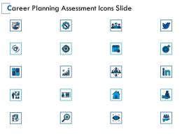 Career Planning Assessment Icons Slide Growth Threat Ppt Powerpoint Presentation Gallery