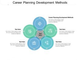 Career Planning Development Methods Ppt Powerpoint Presentation Icon Good Cpb