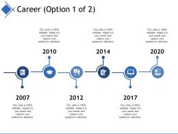 Career Ppt Infographics Diagrams