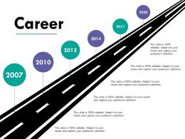 Career Ppt Infographics Ppt Diagrams