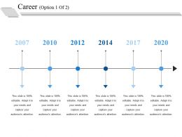 Career Ppt Visual Aids Professional