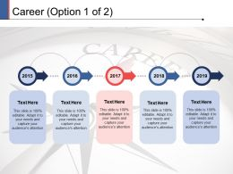 Career Process Timeline Ppt Powerpoint Presentation Slides Graphic Images