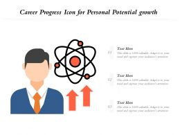 Career Progress Icon For Personal Potential Growth