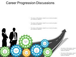 Career Progression Discussions Presentation Layouts