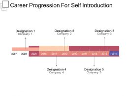 Career Progression For Self Introduction Powerpoint Ideas
