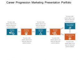 Career Progression Marketing Presentation Portfolio