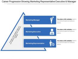 Career Progression Showing Marketing Representative Executive And Manager