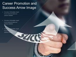 Career Promotion And Success Arrow Image