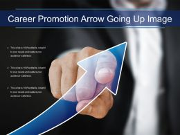 Career Promotion Arrow Going Up Image