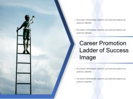 Career Promotion Ladder Of Success Image