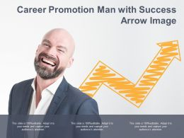 Career Promotion Man With Success Arrow Image