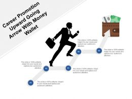 Career Promotion Upward Going Arrow With Money Wallet