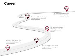 Career Roadmap D218 Ppt Powerpoint Presentation Infographic Template Infographics