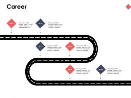 Career Roadmap Six Years Ppt Powerpoint Presentation Ideas Styles