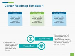 Career Roadmap Template 1 Ppt Summary Graphics Template