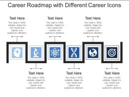 Career Roadmap With Different Career Icons