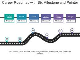 Career Roadmap With Six Milestone And Pointer