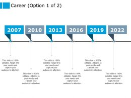 Career Six Year Process Ppt Powerpoint Presentation Outline Gridlines