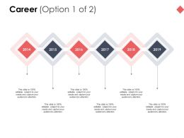 Career Six Years Timelines D192 Ppt Powerpoint Presentation Ideas Slides