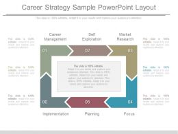 Career Strategy Sample Powerpoint Layout