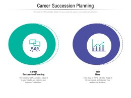 Career Succession Planning Ppt Powerpoint Presentation Ideas Maker Cpb
