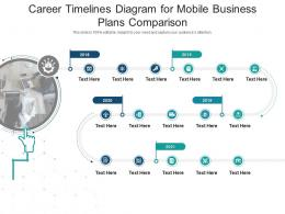 Career Timelines Diagram For Mobile Business Plans Comparison Infographic Template