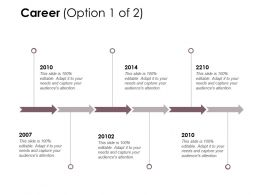 Career Timelines Roadmap D161 Ppt Powerpoint Presentation File Master Slide