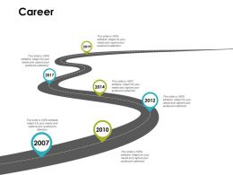 Career Timelines Roadmap Ppt Powerpoint Presentation Gallery Topics