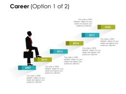 Career Years Stairs Ppt Powerpoint Presentation Gallery Templates