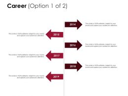 Career Years Timelines D217 Ppt Powerpoint Presentation Infographic Template Ideas