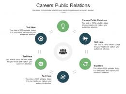 Careers Public Relations Ppt Powerpoint Presentation Ideas Grid Cpb
