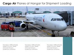 Cargo Air Planes At Hangar For Shipment Loading